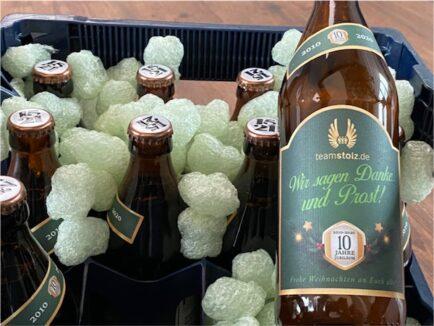 Weihnachtsgeschenk von unserem Kunden teamstolz.de